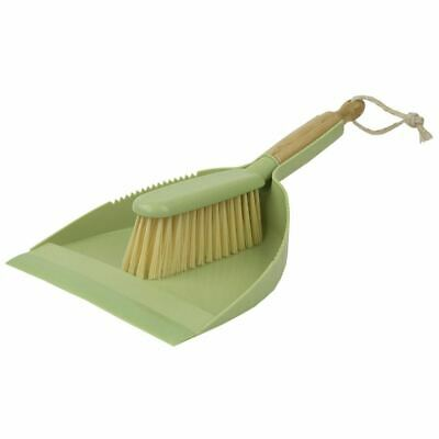 Home Basics Bliss Collection Bamboo Dust Pan Set, Green - PB45595