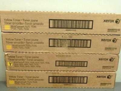 4 New Genuine XEROX Yellow Toners 006R01510