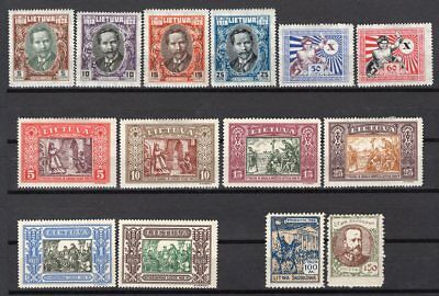 Lithuania 14 Old Stamps Mint Hinged