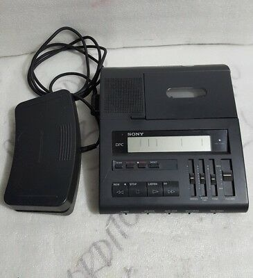 Sony Bm-89 Cassette Transcriber Dictation Machine W/ecm-R100 Microphone