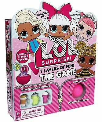 NEW LOL Surprise Doll 7 Layers Of Fun Board Game! Limited Release~Authentic! NIB