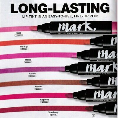 Avon Mark Big Colour Lip Tint Long Lasting Lip Stain Pen ALL SHADES