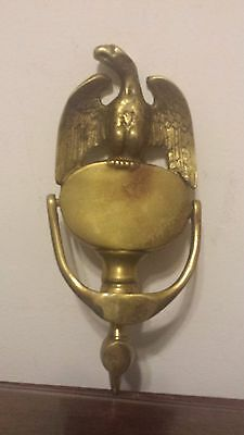 Heavy Antique Brass American Eagle Door Knocker Victorian Ornate