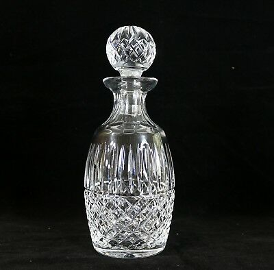 """10.5"""" H  Waterford Cut Crystal Maeve Spirit Decanter and Stopper, Signed"""