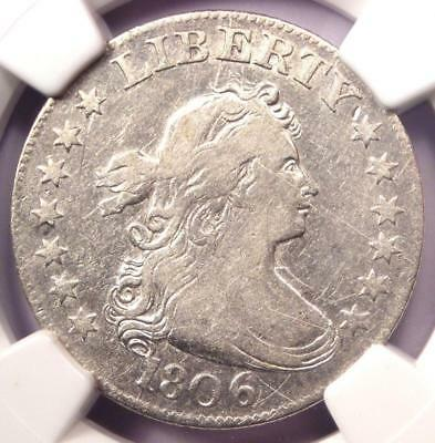 1806 Draped Bust Quarter 25C - Certified NGC VF Details - Rare Coin - Near XF!