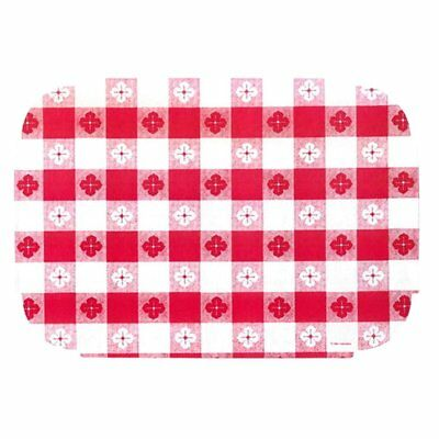 Red Gingham Paper Placemats - 9.75 x 14 inches 50