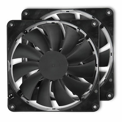 Rosewill  (2Pack) 140mm Computer Case Cooling Fans with LP4 Adapter RFBF-131411