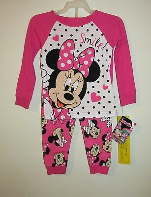 Toddler Girls Minnie Mouse Pajama Set (Size 2T) BRAND NEW W TAGS