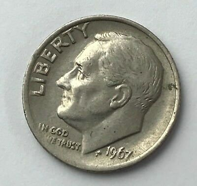 Dated : 1967 - American - Roosevelt - One Dime - Coin - USA