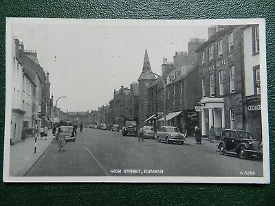 Old Postcard - High Street , Dunbar , East Lothian