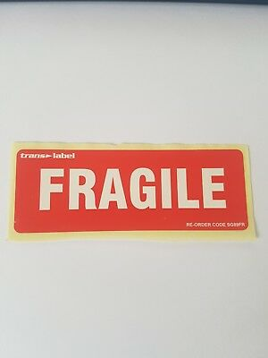 1p Auction Fragile Label 1x - No Reserve - FREE Shipping 10