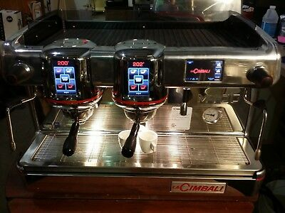 commercial espresso machine La Cimbali M100 Chrome  body 2 group with Turbo stea