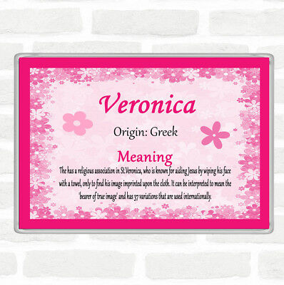Veronica Name Meaning Jumbo Fridge Magnet Pink