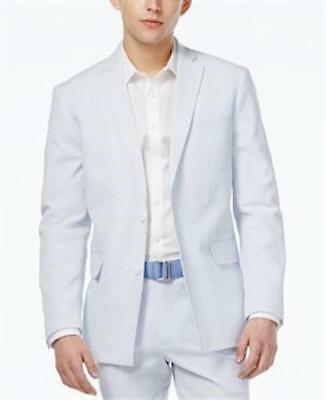Inc International Concept Slim Fit Seersucker Blazer Light Blue Mens Size XL New
