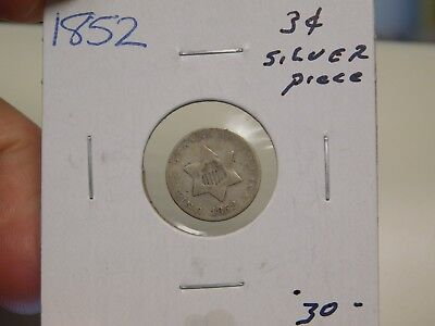 1852 3 Cent Silver Piece