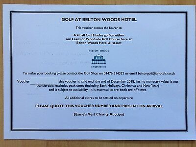 Golf Voucher For 4 People At Belton Woods Golf Course