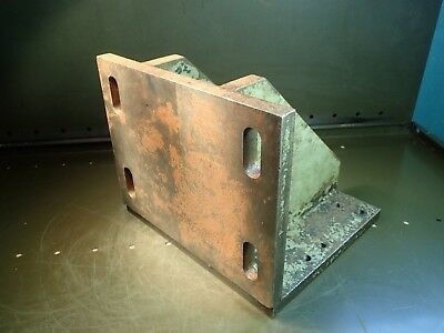"""12"""" x 10-1/4"""" x 10"""" Right Angle Set-Up Mill Milling Fixture Plate Used Good Cond"""