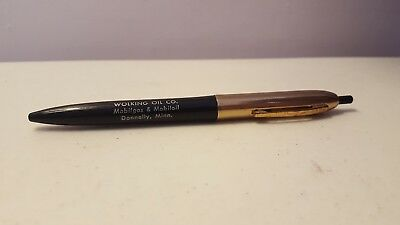 Wolking Oil Co Mobilgas Mobiloil Donnelly, MN Vintage Advertising Pen Gold Black