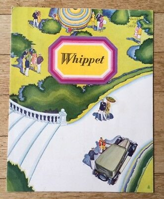 1928 Willys Overland Whippet Auto Sales Brochure Original FREE SHPPING