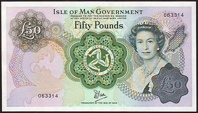 ISLE  OF  MAN    50 Pounds  ND (1983)    UNC