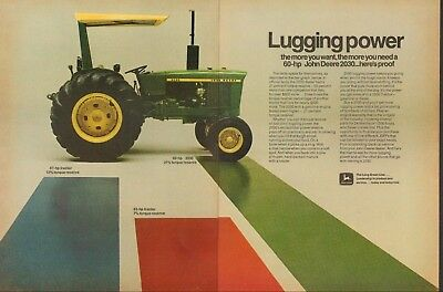 1972 John Deere 2030 2 Page Farm Tractor Print Ad