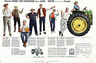 1962 John Deere 5010 2 Page Farm Tractor Print Ad