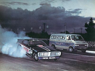 1973 Great Magazine Pic of Hill & Vance Dodge Fenton Charger Funny Car