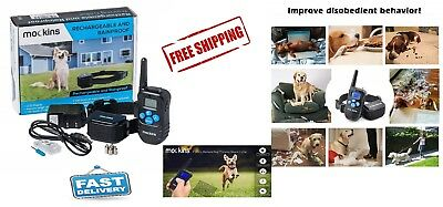 Dog Shock Training Collar Rainproof Rechargeable Remote 1000ft Electric LCD New