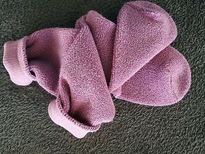 Soft cozy vintage 70´s-80´s heather terrycloth socks outside terry loops
