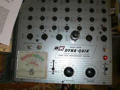 B&K 650 DYNAMIC MUTUAL CONDUCTANCE Tube Tester