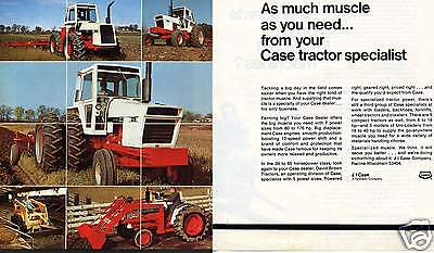 1974 Case Agri King 1370 2470 1070 David Brown  2 Page Farm Tractor Print Ad