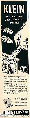 1956 Print Ad of Mathias Klein & Sons Tools Radio Ham Serviceman Pliers