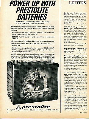 1965 Print Ad of Prestolite Batteries International Harvester IH Farmall Tractor