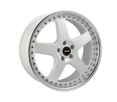 TOYOTA KLUGER 2000 TO 2007 WHEELS PACKAGE: 20x8.5 20x9.5 Simmons FR-1 White and