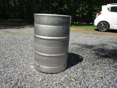 1/2 Barrel Stainless Steel Miller Beer 1/2 Keg Empty Local Limited Delivery