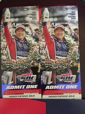 INDY 500 tickets 2018 - Two tickets 5/27/2018 Stand C