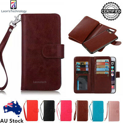 Removable 2in1PU Leather Flip Wallet Case Cover Magnetic For iphone XS R876splus