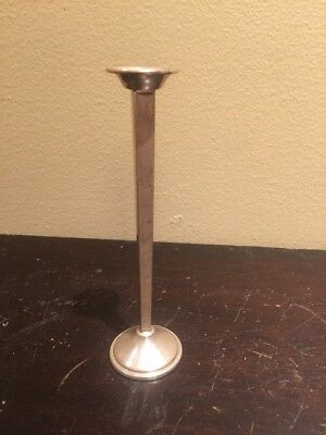 Vintage Cartier Sterling Silver Four Sided Bud Vase.
