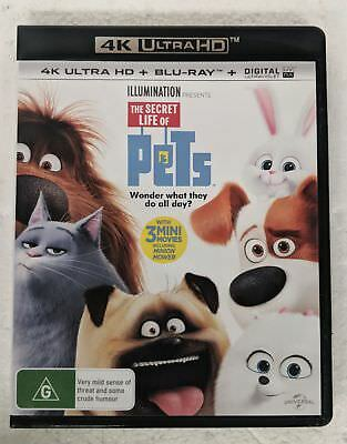 THE SECRET LIFE OF PETS 4K ULTRA HD + BLU-RAY oz seller 4K UHD HDR DVD