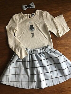 Janie and Jack Top Skirt Bow 3 pcs Lot size 6