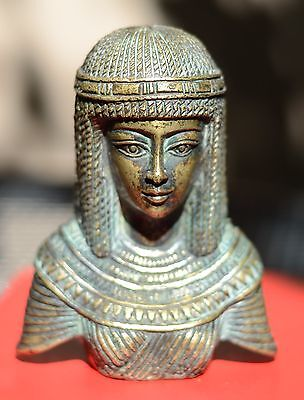 Egypt ancient copper lady bust