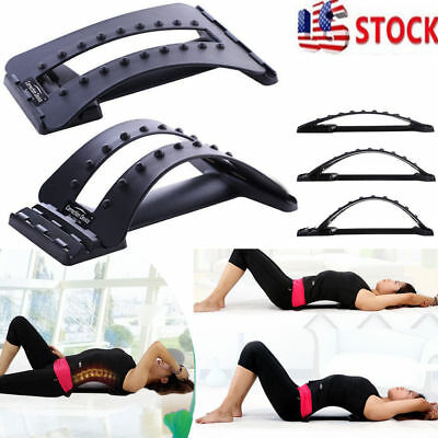 Back Stretcher Lumbar Neck Massage Support Spine Posture Corrector Pain Relief
