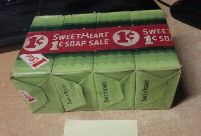 """LOT OF 4 Circa 1940 Vintage Sweetheart """"True Beauty"""" Toilet Soap New Old Stock"""