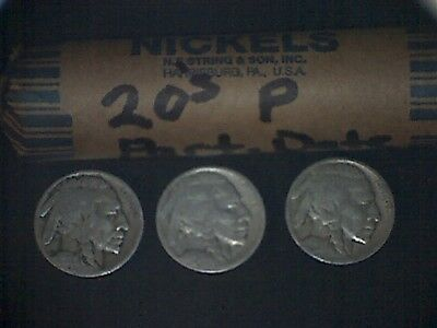 10 rolls 1920's P partial date buffalo nickels 400 plus