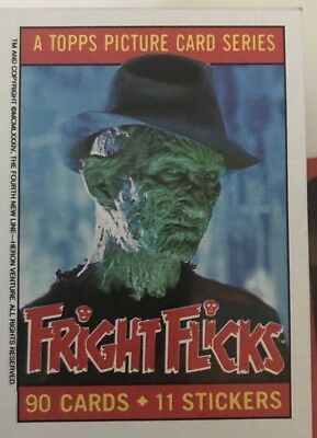 Topps Fright Flicks Complete Card And Sticker Set Mint, Plus Some Doubles
