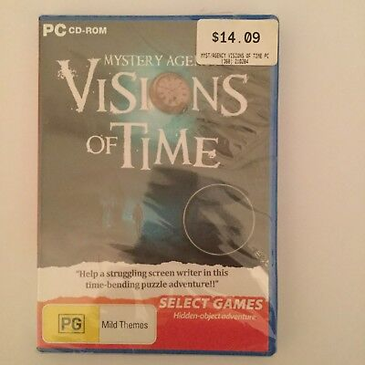 Mystery Agenty Visions of Time PC CD-ROM hidden object game