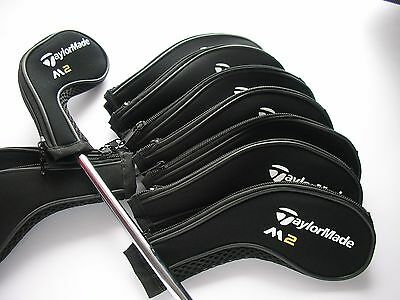 New 10 x Taylormade M2 Iron Covers Golf Club Head Covers 3,4,5,6,7,8,9,A,PW,SW