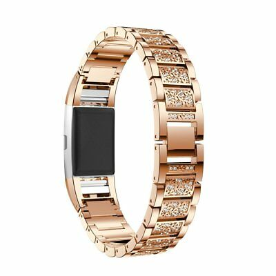 Fashion Crystal Stainless Steel Watch Band Wrist Strap Fo Fitbit charge 2 UK