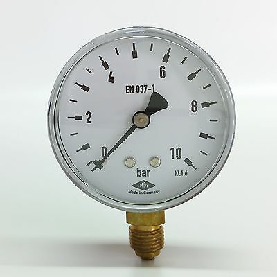 "Manometer Ø63mm  G1/4"" unten,  - alle Messbereiche - EMPEO - Made in Germany"