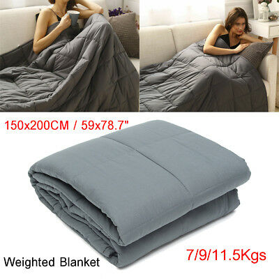 60x80'' Weighted Blanket 15-25 Lbs Heavy Sensory Anxiety Sleep Relief Kids Adult